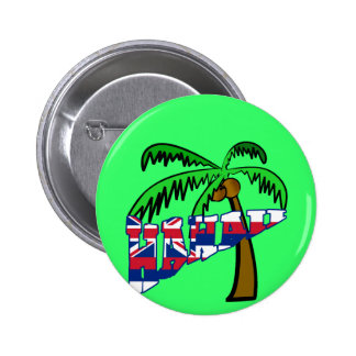 Hawaii with Palm Tree Products 6 Cm Round Badge