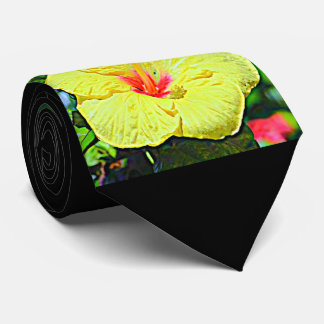 Hawaii Yellow Hibiscus Tie
