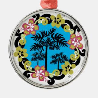 Hawaiia Circle of Flowers Christmas Ornament