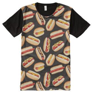 Hawaiian Aloha Hotdog Print Shirt