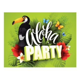 Hawaiian Aloha Party - Post Card Invitation