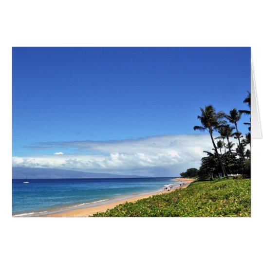 Hawaiian Beach Day Card