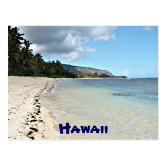 Hawaiian beach postcard