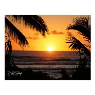Hawaiian Beach Sunset Post Card