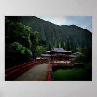 Hawaiian Buddhist Temple Poster