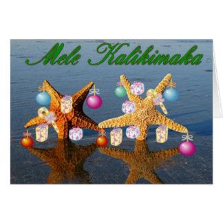 Hawaiian Christmas card Greeting Card