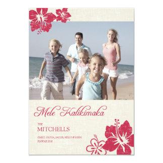 Hawaiian Christmas Cards 13 Cm X 18 Cm Invitation Card