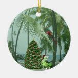 Hawaiian Christmas Ceramic Ornament