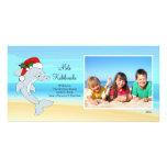 Hawaiian Christmas Dolphin Christmas Photo Card. Photo Greeting Card