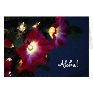 Hawaiian Christmas Flower card