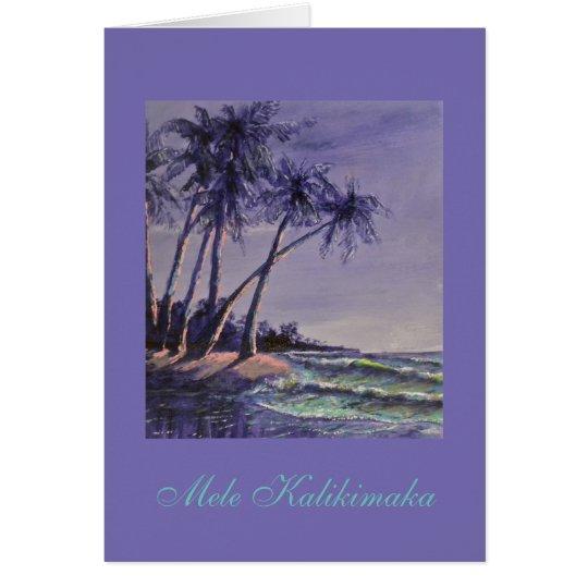 Hawaiian Christmas greetings! Card