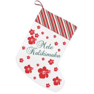 Hawaiian Christmas | Mele Kialikimaka Small Christmas Stocking