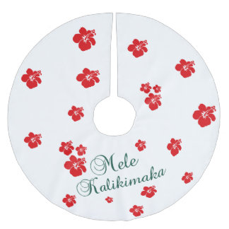 Hawaiian Christmas | Mele Kialikimaka Brushed Polyester Tree Skirt