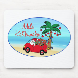 Hawaiian Christmas Mouse Pads