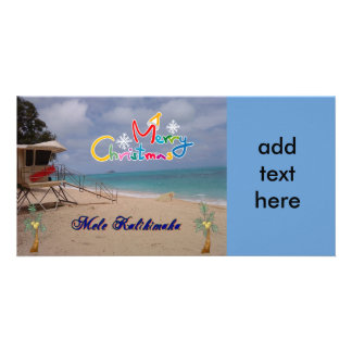 Hawaiian Christmas Photo Card