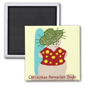 Hawaiian Christmas Sandman magnet