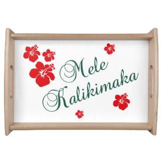 Hawaiian Christmas Service Trays