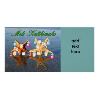 Hawaiian Christmas starfish Photo Card