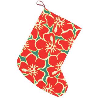 Hawaiian Christmas Tropical Hibiscus Red Green