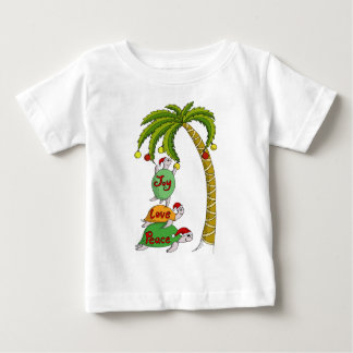 Hawaiian Christmas Turtle Santas Baby T-Shirt