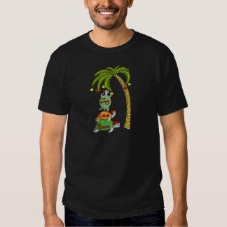 Hawaiian Christmas Turtle Santas Tshirt