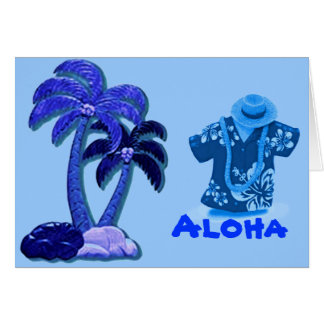 Hawaiian Coconut trees card