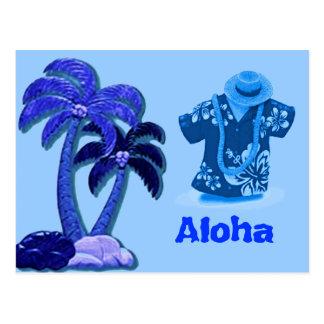 Hawaiian Coconut trees postcard
