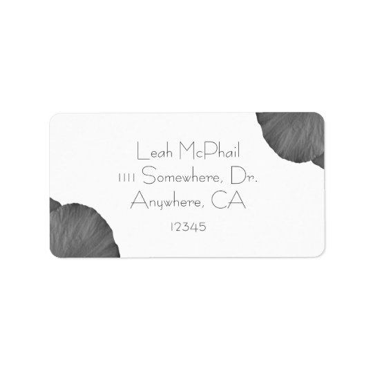 Hawaiian Dreams in Black and White Address Label