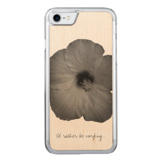 Hawaiian Dreams in Black and White Carved iPhone 8/7 Case