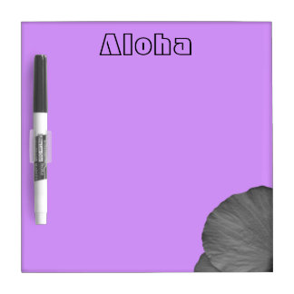 Hawaiian Dreams in Black and White Dry Erase Board