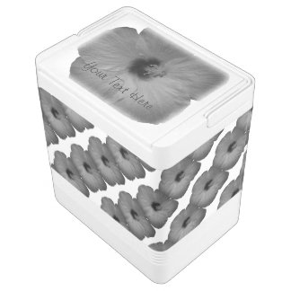 Hawaiian Dreams in Black and White Igloo Cooler
