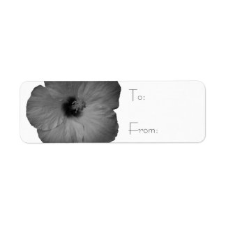 Hawaiian Dreams in Black and White Return Address Label
