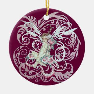 Hawaiian Faery Round Ceramic Decoration