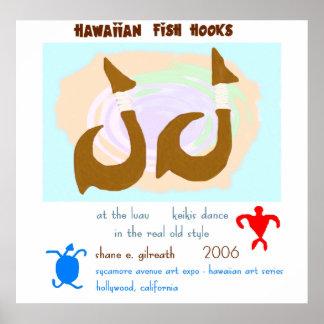 Hawaiian Fish Hooks Poster