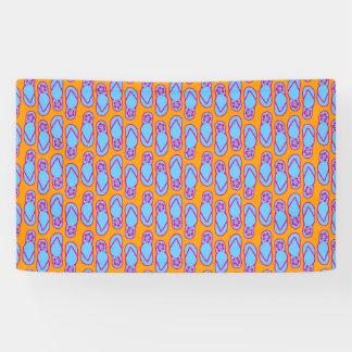 Hawaiian Flip Flops in Blue & Orange