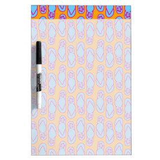 Hawaiian Flip Flops in Blue & Orange Dry-Erase Board