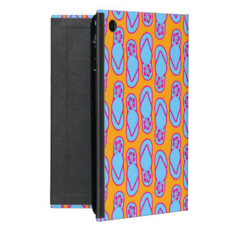 Hawaiian Flip Flops in Blue & Orange iPad Mini Covers