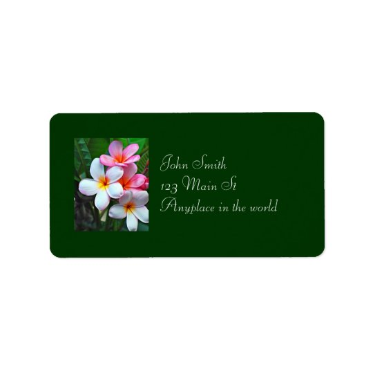 Hawaiian floral address label