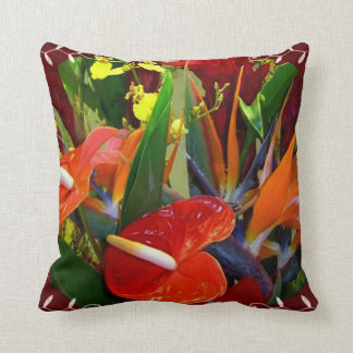 Hawaiian floral American MoJo Pillow
