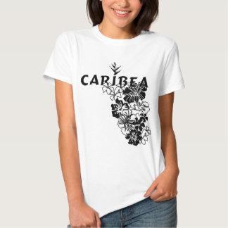 Hawaiian Floral Black Tee Shirts