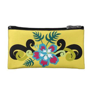 Hawaiian Floral Makeup Bag