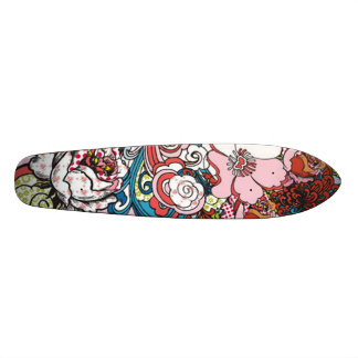 Hawaiian Floral Skateboard