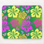 Hawaiian flower mouse pad