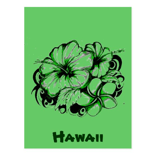 Hawaiian Flower Postcard