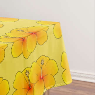 Hawaiian flower tablecloth
