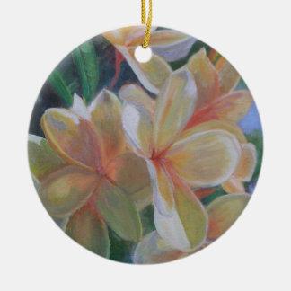 HAWAIIAN FLOWERS Ceramic Ornament