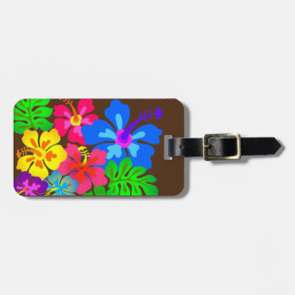 Hawaiian Flowers Hibiscus Art Luggage Tag