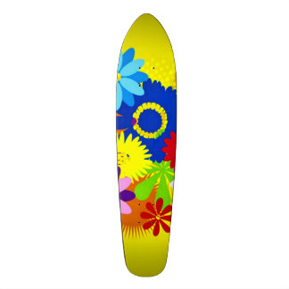 Hawaiian Flowers Penny Custom Pro Long Board Skate Boards