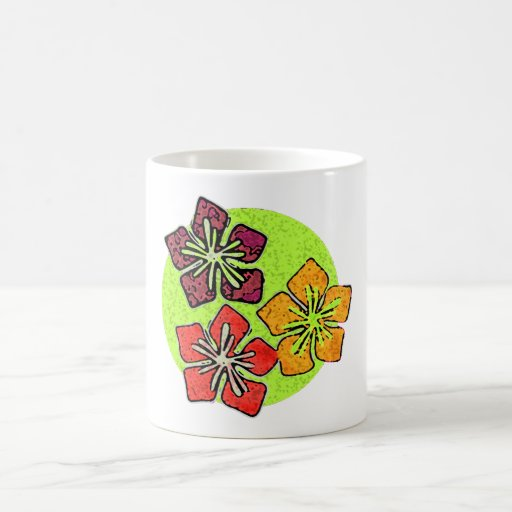 Hawaiian Flowers Trio Mugs