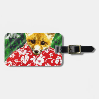 Hawaiian Fox Luggage Tag